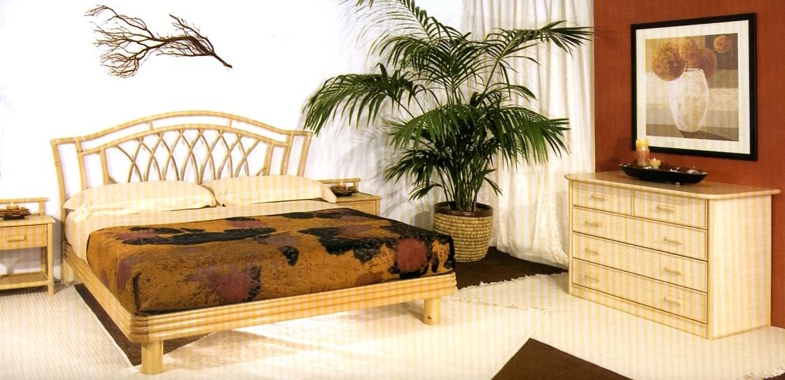Arredamento camere da letto in giunco e rattan armadi in for Arredamento in rattan