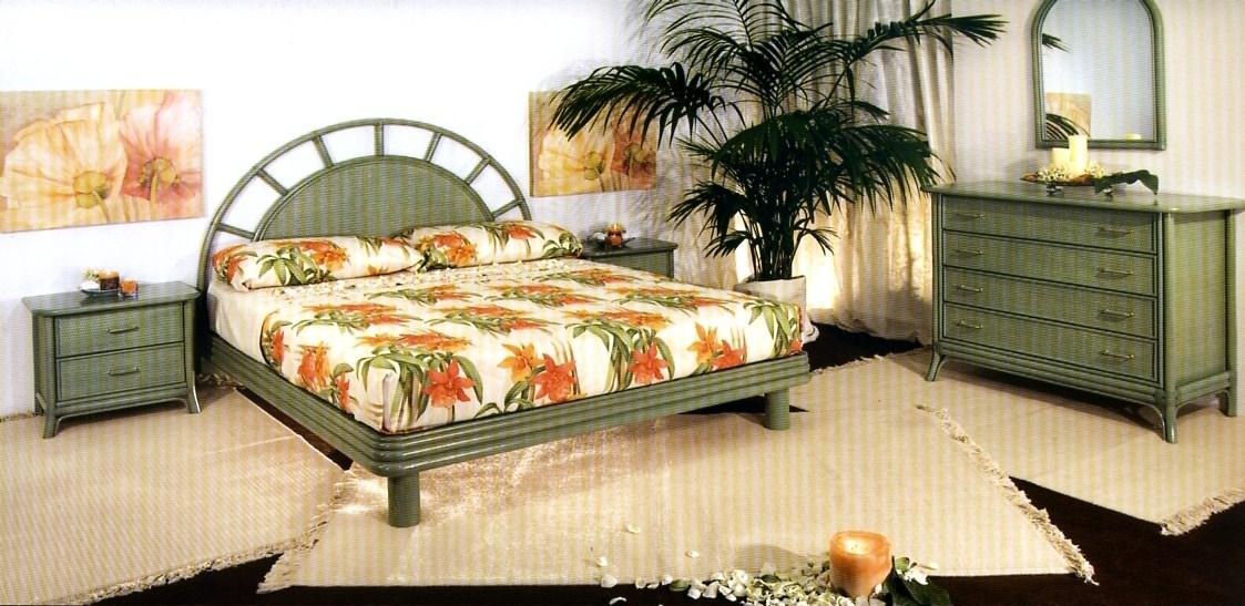 Camera da letto in vimini casamia idea di immagine for Arredamento in rattan