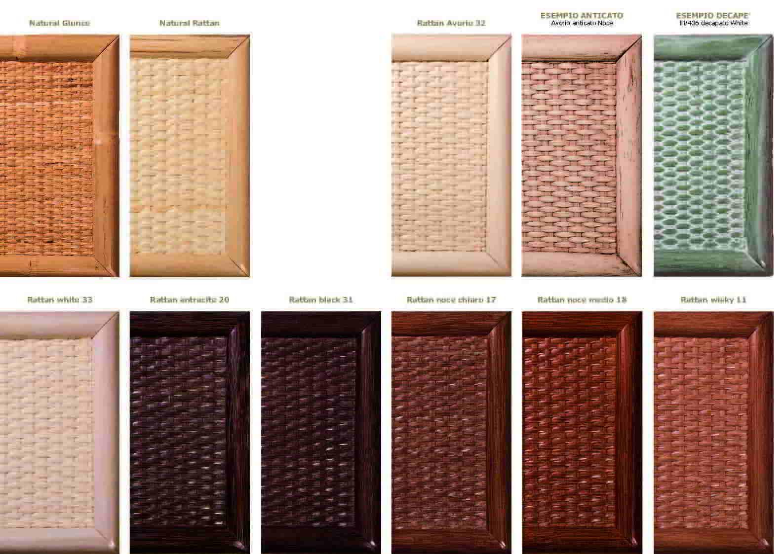 Colori per mobili colori mobili in bamb arredamento for Mobili in rattan