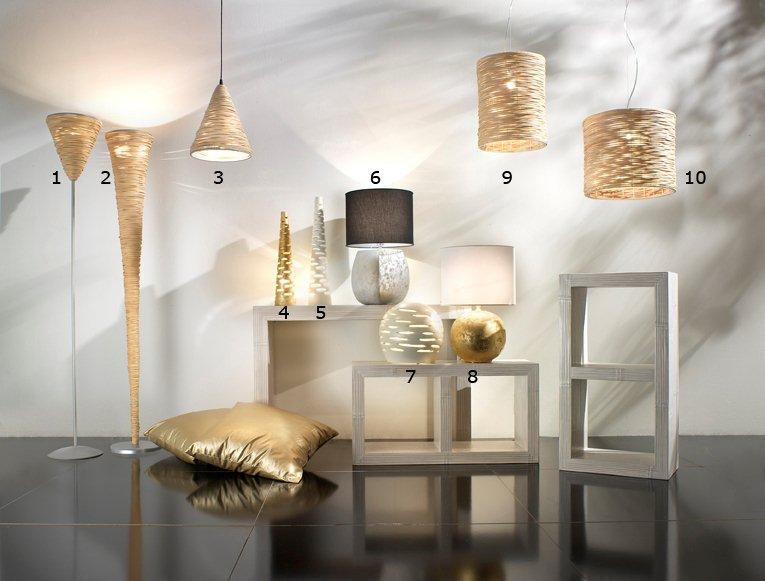 lampadari in rattan : 12l 1 lampada in midollino stelo nido cm diam 30 h 185 2 lampada in ...