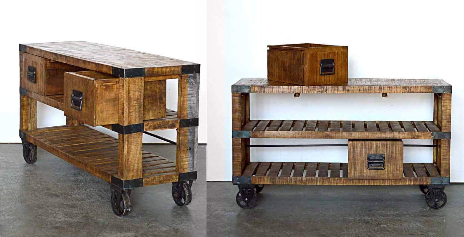Mobili colorati, country,loft,stile industrial,ferro e legno, mobili ...