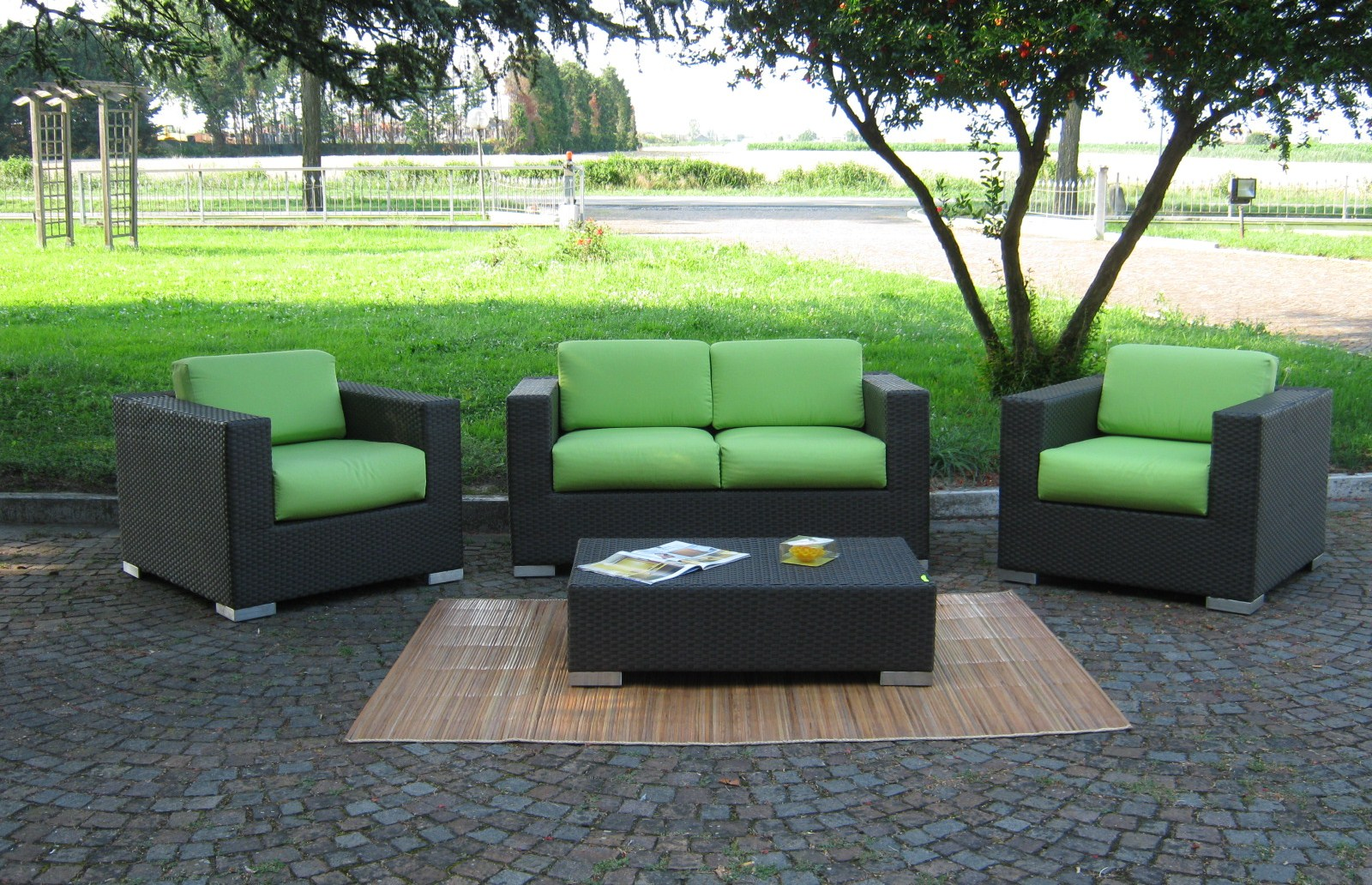 Salotti in rattan sintetico arredamento giardino sintetico mobili da giardino in rattan - Divani per esterno ikea ...
