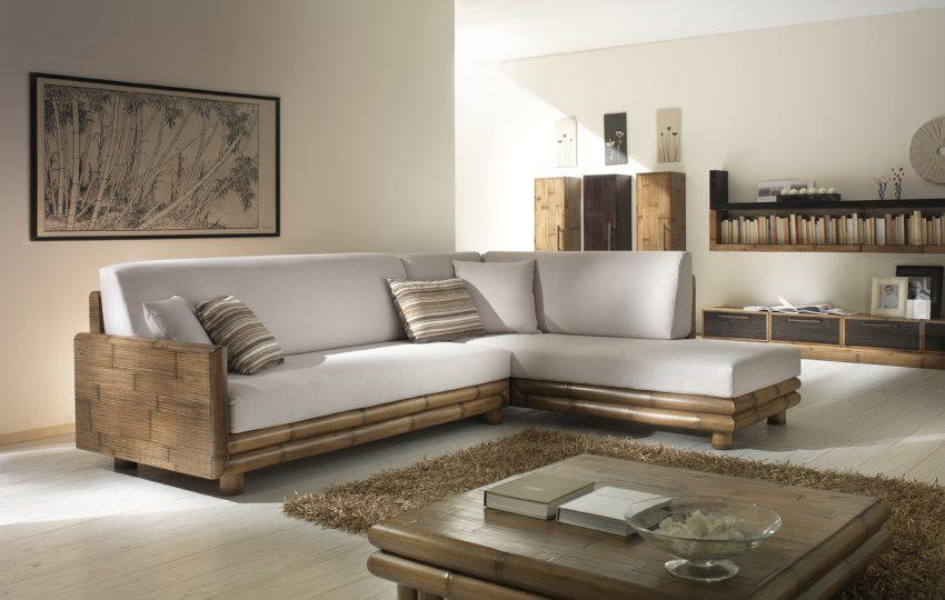Salotti in bambu divani angolo in bamboo crash poltrone for Offerte mobili salotto