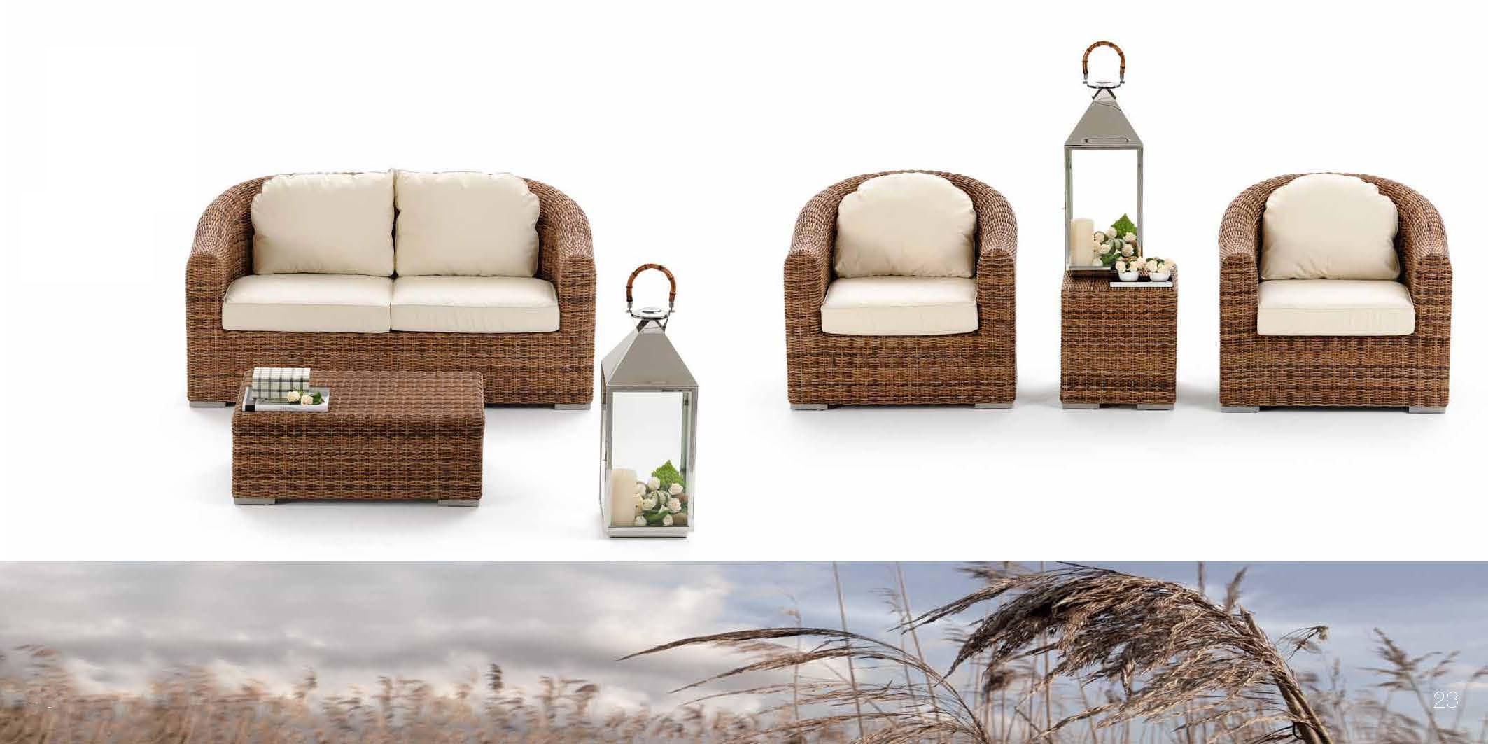 Divani esterno rattan sintetico idee per il design della for Divani per esterno offerte