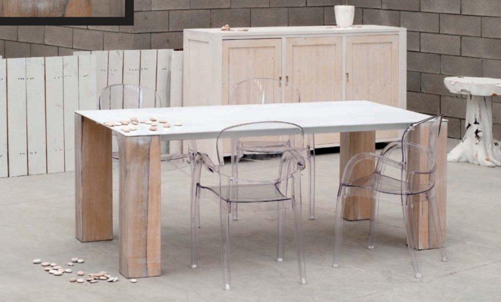 12et for Piano per tavolo legno grezzo
