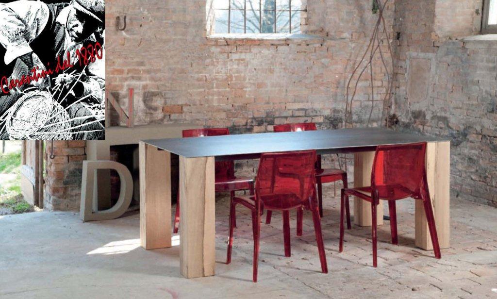 12et - Tavolo legno grezzo moderno ...